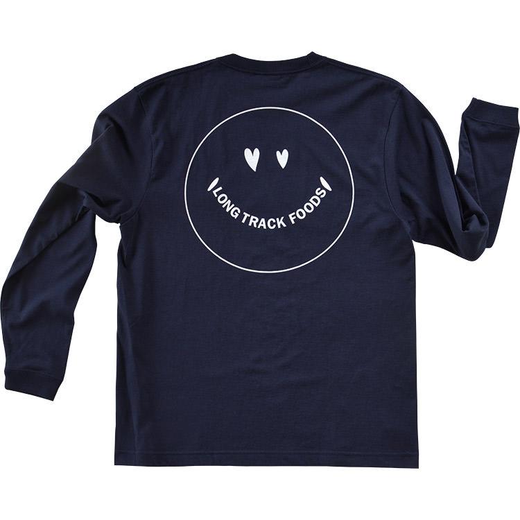 LOVE SMILEYロングスリーブTシャツ (ネイビー)