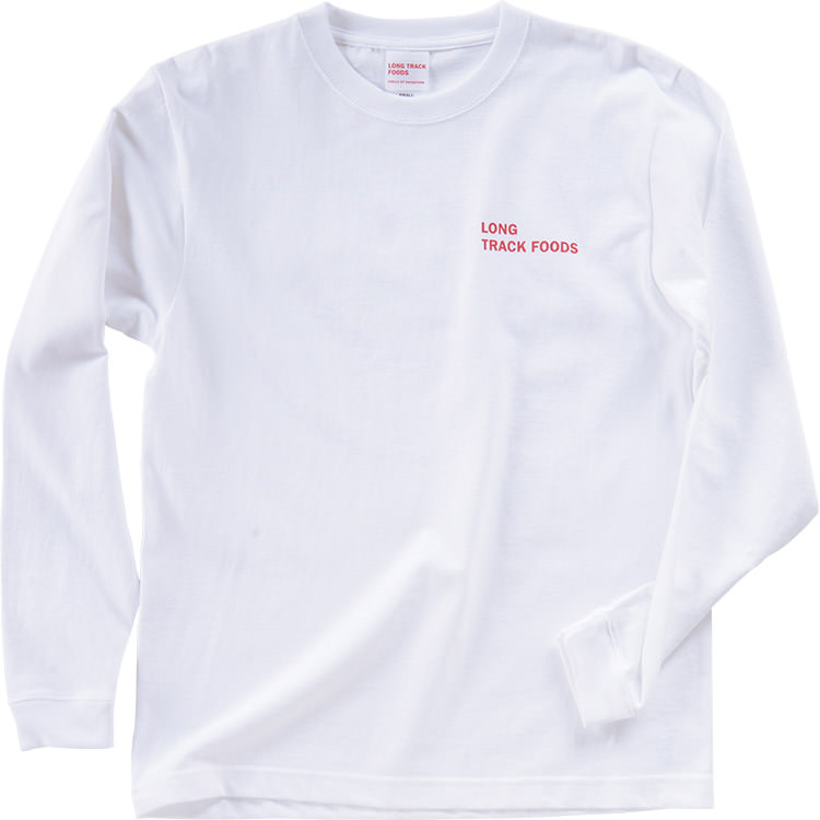 LOVE SMILEYロングスリーブTシャツ (白)