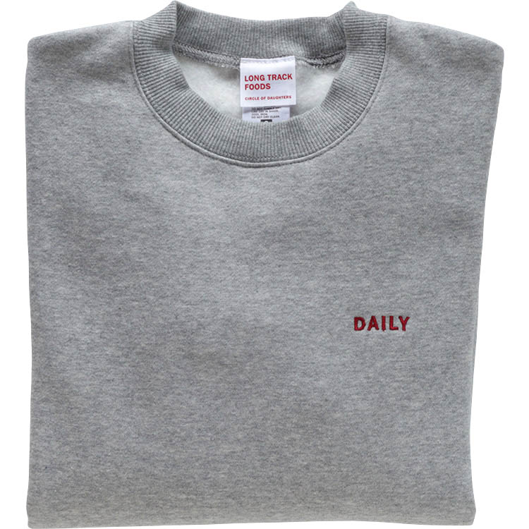 DAILY ONE POINT LOGOスウェット(杢グレー)