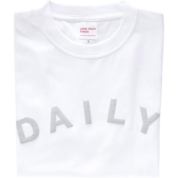 DAILY LOGOTシャツ(白)