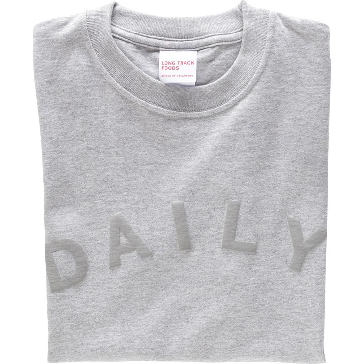 DAILY LOGOTシャツ(杢グレー)