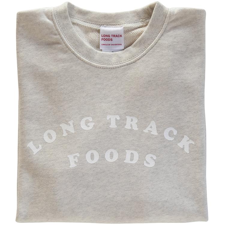 LONG TRACK FOODS LOGOスウェット(オートミール)