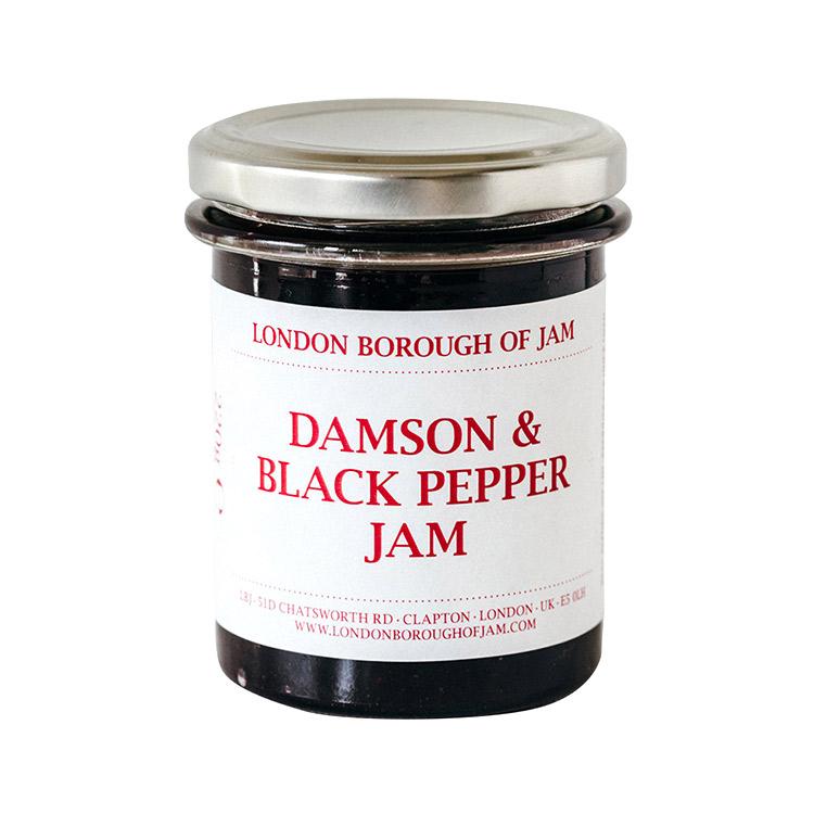 LONDON BOROUGH OF JAM ダムソンプラムとブラックペッパーのジャム