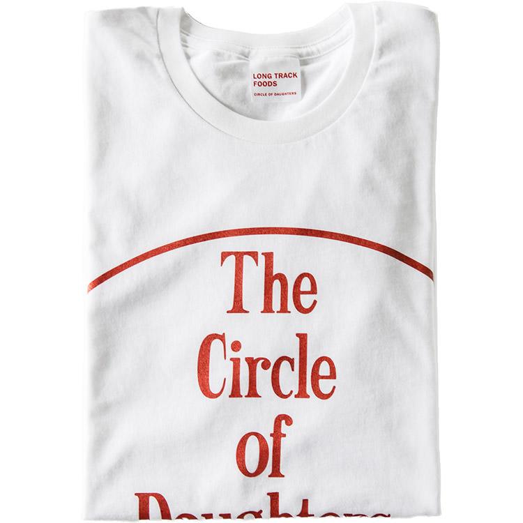 BIG CIRCLE LOGO オーガニックコットンTシャツ 白