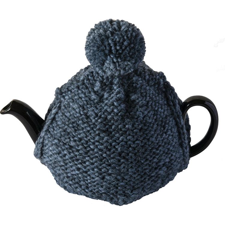 ウール裏編みのティーコゼ